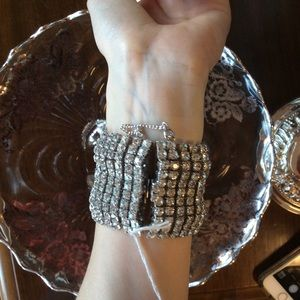 Vintage Jewelry - Big Bold Beautiful Rhinestone Bracelet